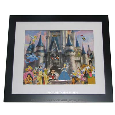 Disney Framed Pin Set Cinderella Castle