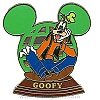 Disney Resort Ear Globe Pin - Goofy
