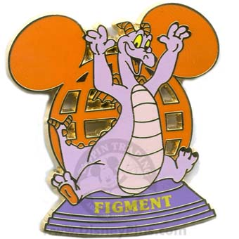 Disney Resort Ear Globe Pin - Figment