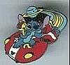 Disney Cast Lanyard Pin - Stitch On Flying Saucer - Standing