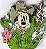 Disney Cast Lanyard Pin - Butterfly Catcher - Mickey Mouse