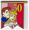 Disney Cast Lanyard Pin - 50th Banner Princess - Aurora and Phillip