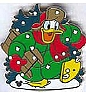 Disney Cast Lanyard Pin - Holidays - Donald Duck