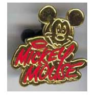 Disney Cast Lanyard Pin - Signature - Mickey Mouse