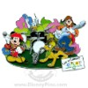 Disney Jumbo Pin - Epcot Flower and Garden Festival - Mickey & Gang