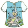 Disney Gold Card Pin - T-Shirts - Tinker Bell with Castle