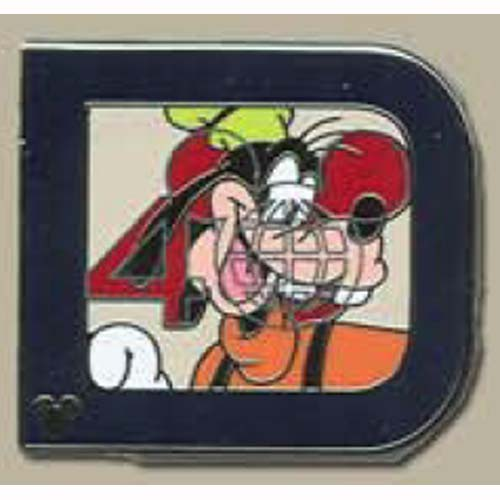 Disney Hidden Mickey Pin - Classic 'D' Collection - Goofy