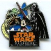 Disney Star Wars Weekends 2006 Logo Pin - Mickey - Darth Vader - Yoda