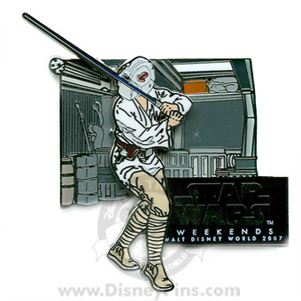 Disney Star Wars Weekends 2007 Pin - Luke Skywalker Blaster Training