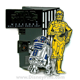 Disney Star Wars Weekends 2007 Pin - R2-D2 C-3PO Garbage Unit