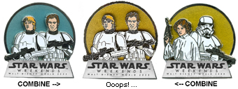 Disney Star Wars Weekends 2008 Pin - Luke Skywalker Han Solo - Error