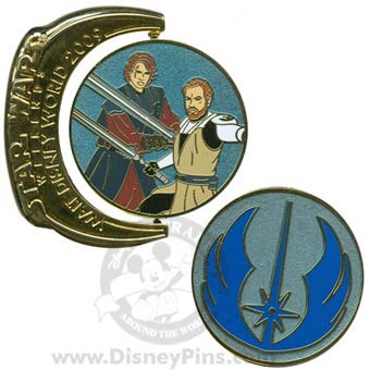 Disney Star Wars Weekends Pin - 2009 Obi-Wan and Anakin Skywalker