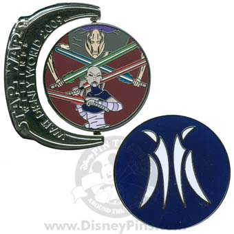 Disney Star Wars Weekends Pin - 2009 General Grevious and Ventress