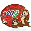 Disney White Glove Pin - Dated 2009 - Chip and Dale