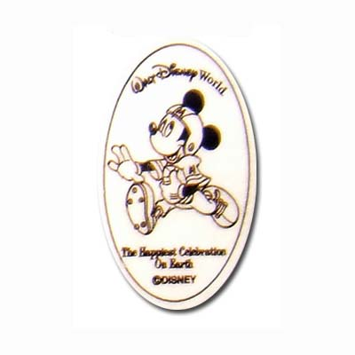 Disney Pressed Quarter - Celebration - Football Player Mickey Mouse
