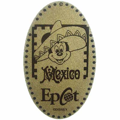 Disney Pressed Penny - Epcot - Mickey Mouse - Mexican sombrero