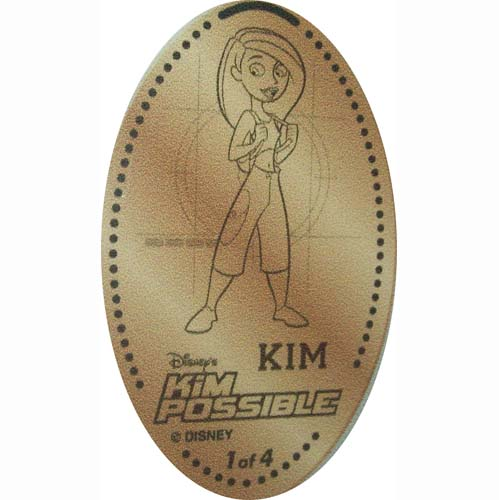 Disney Pressed Penny - Kim Possible 1 of 4