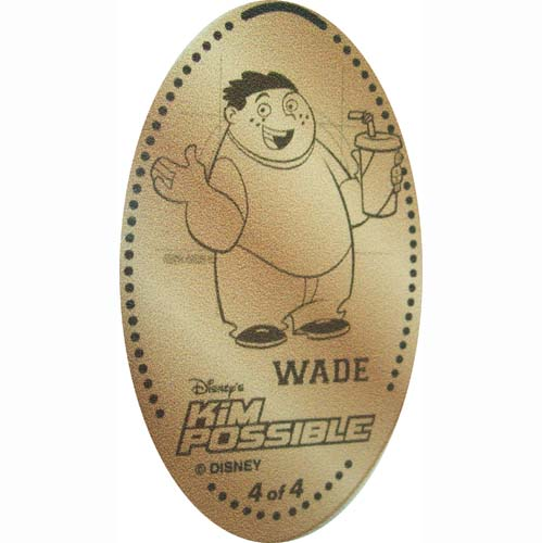 Disney Pressed Penny - Kim Possible Wade Load