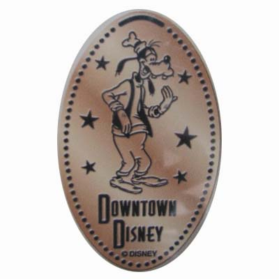 Disney Pressed Penny - Downtown Disney - Goofy Surrounded by Stars