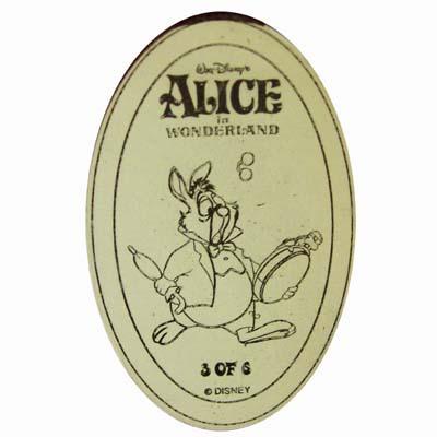 Disney Pressed Penny Alice In Wonderland White Rabbit