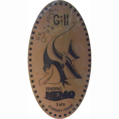 Disney Pressed Penny - Finding Nemo - Gill