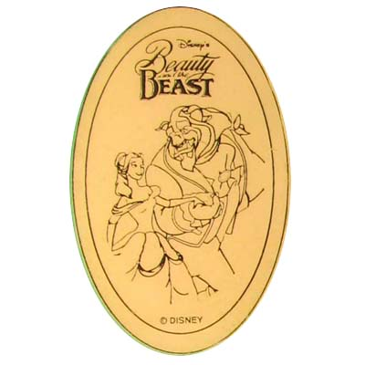 Disney Pressed Penny - Beauty and the Beast - Belle & Beast