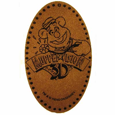 Disney Pressed Penny - Muppet Vision 3D - Fozzie Bear