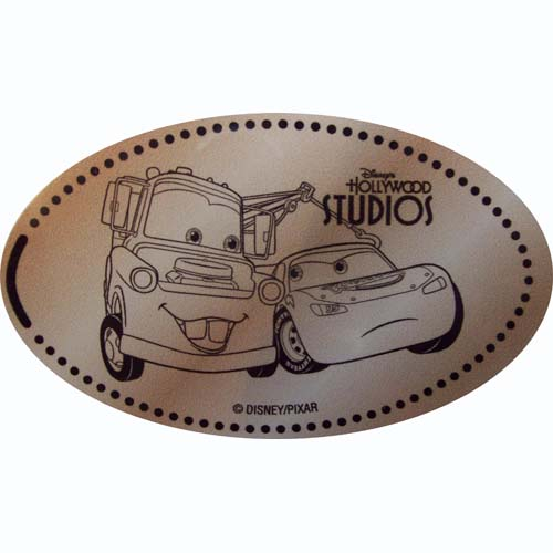 Disney Pressed Penny - CARS - Tow Mater and Lightning McQueen