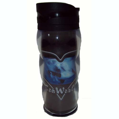 SeaWorld Travel Mug - Chrome