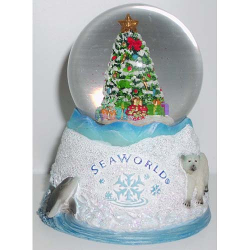 SeaWorld Snow Globe - Christmas Celebration Small