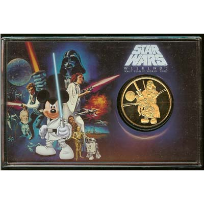 Disney Star Wars Coin -2007 Gold