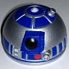 Disney Star Wars Weekends Toy - Create A Droid R2-D2 Head Silver Blue