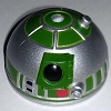 Disney Star Wars Weekends Toy - Create A Droid - R2 Head Silver Green