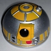 Disney Star Wars Weekends Toy - Create A Droid - R2 Head Silver Yellow
