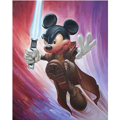 Disney Unstretched Canvas Gallery Wrap - Greg McCullough -  Mickey Wan Kenobi - Unsigned