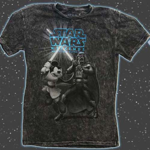 Disney Adult Star Wars Weekends 2011 Logo Shirt - Darth Vader Mickey Mouse