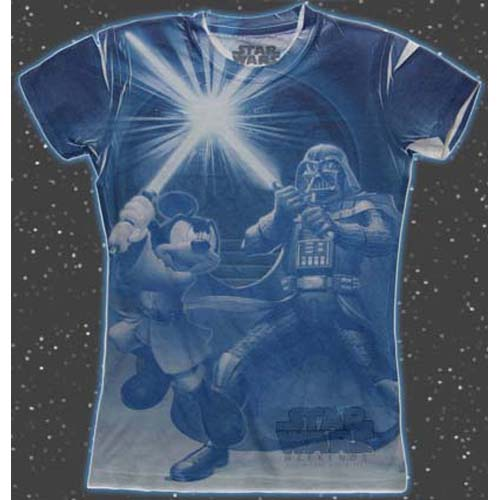 Disney Womens Shirt - Star Wars Weekends 2011 - Darth vs Mickey