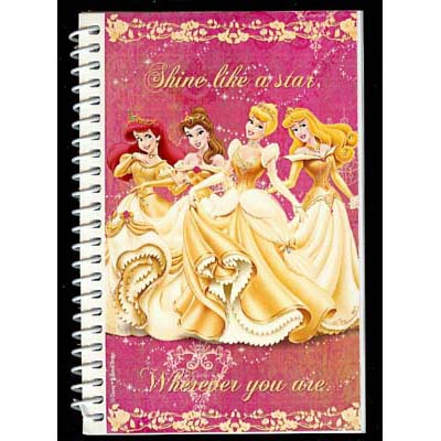 Disney Autograph Book and Pen - Golden Princesses