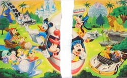Disney Post Card - 4 Parks 1 World – Discontinued