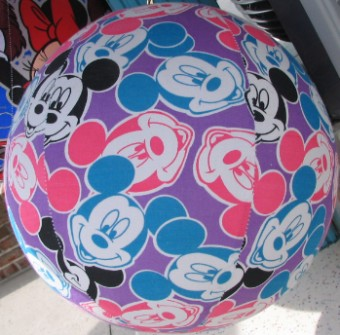 Disney Balzac Ball - 12 Inch - Multicolored Pastel Mickey Mouse Faces