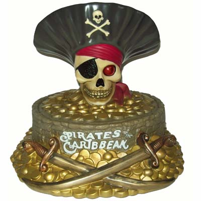 Disney Coin Bank - Pirates of the Caribbean - Skull and Coins