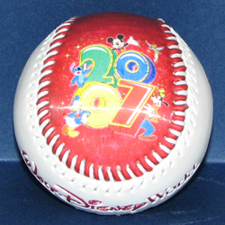 Disney Collectible Baseball - 2007 Logo