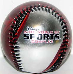 Disney Collectible Baseball - Wide World of Sports - Red Silver