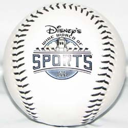 Disney Collectible Baseball - Wide World of Sports Center – White