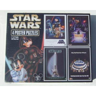 Disney Star Wars Puzzle - 4 Poster Puzzle Set - Mickey and Friends