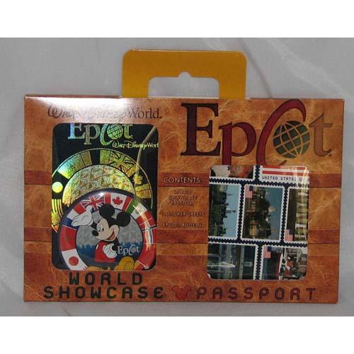 Disney Epcot Passport World Showcase Sticker And Button Set