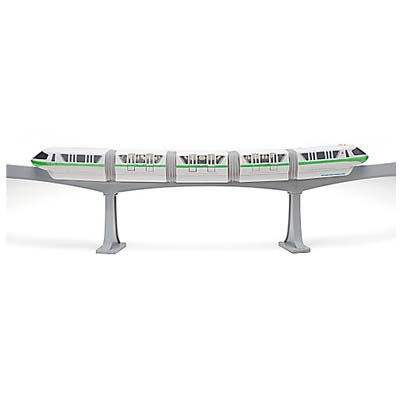 Disney Figurine Set - Monorail train Play Set - NEW - Color TEAL