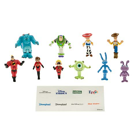 Disney Figurine Set - Monorail - Characters Pack 1