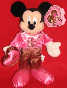Disney Plush - Mickey Mouse - Valentine's Day 2008