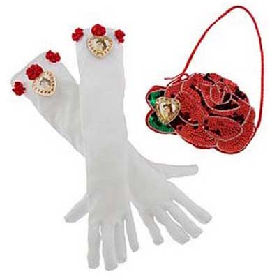 Disney Costume - Princess Gloves and Purse Set - Belle
